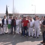 Concentració treballadors/es de SAS davant les portes de SEAT Martorell