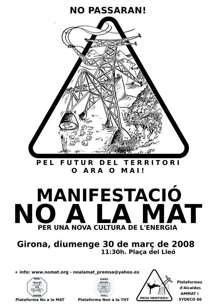 cartell mani Girona