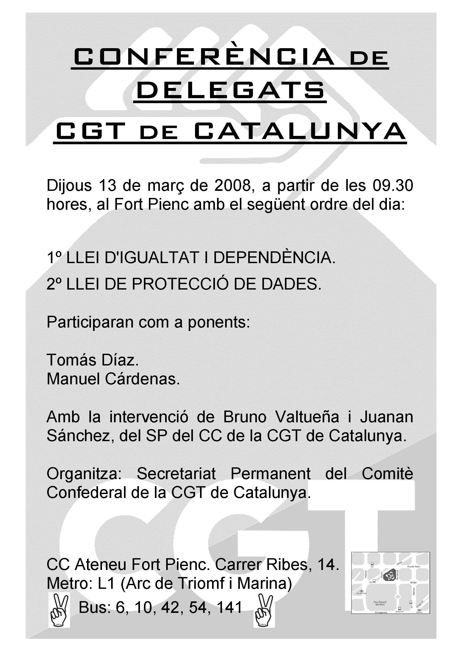 cartell conferència delegats