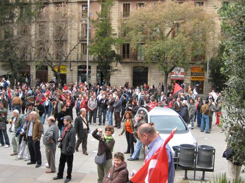 Manifestació 29-3-2008 barcelona en defensa del drets del treballadors al sector del metall