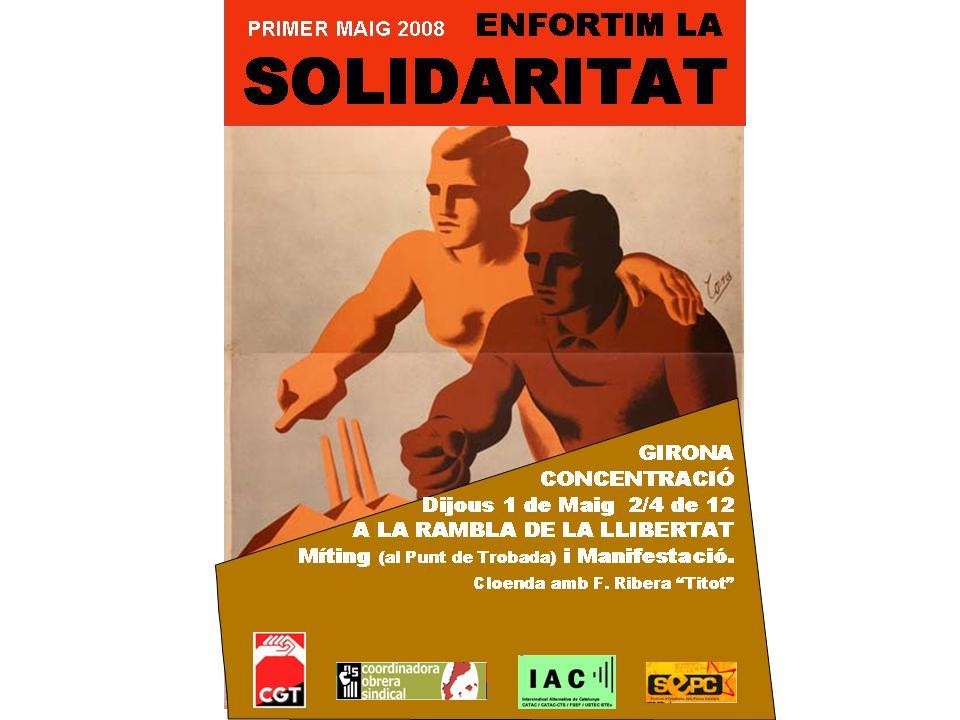 cartell 1r Maig a Girona