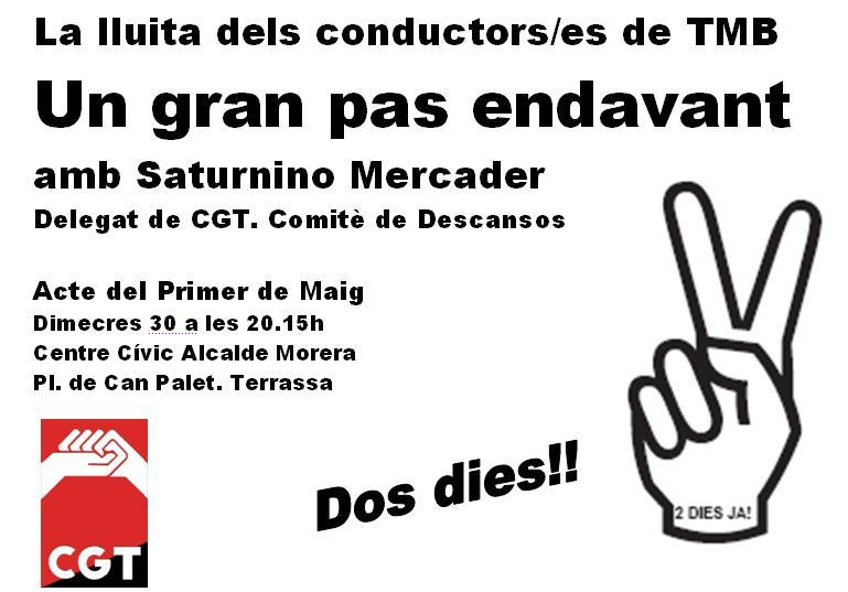 cartell xerrada cgt terrassa 30 abril