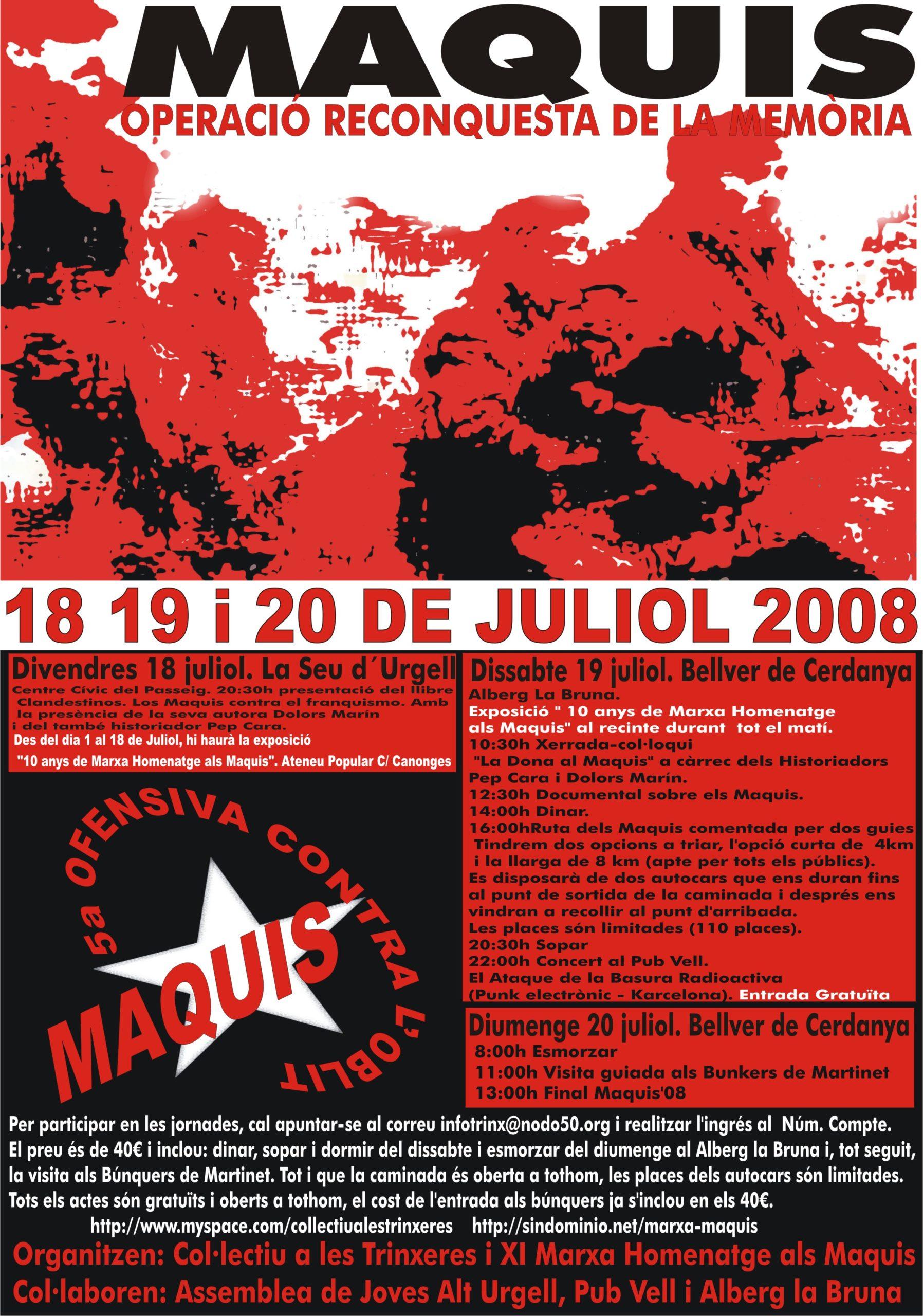 cartell actes a la Cerdanya