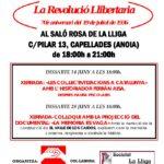 cartell exposició la revolució llibertaria a Capellades