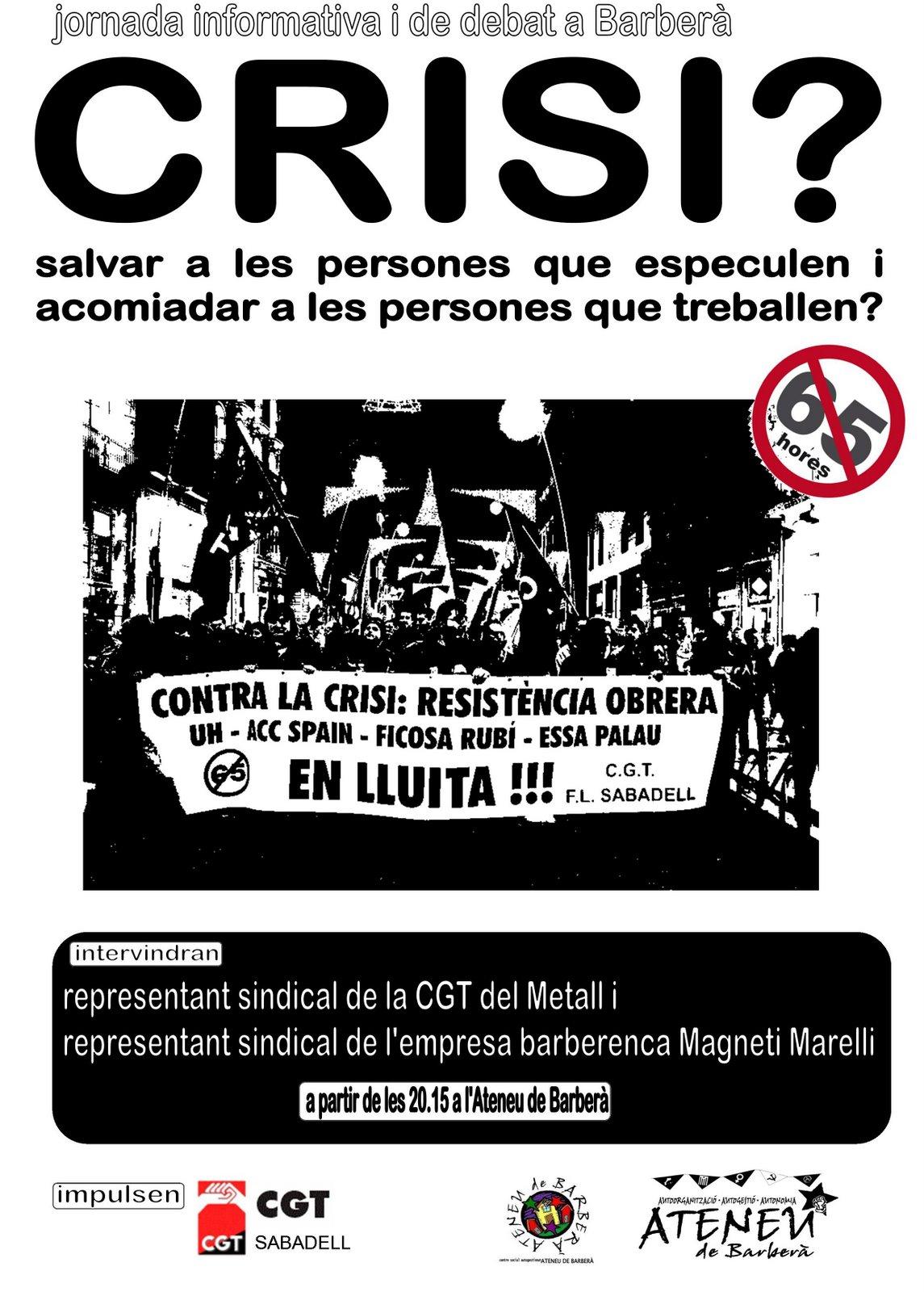 cartell xerrada crisi Barberà