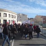 Inici de la manifestació a l'estació de RENFE