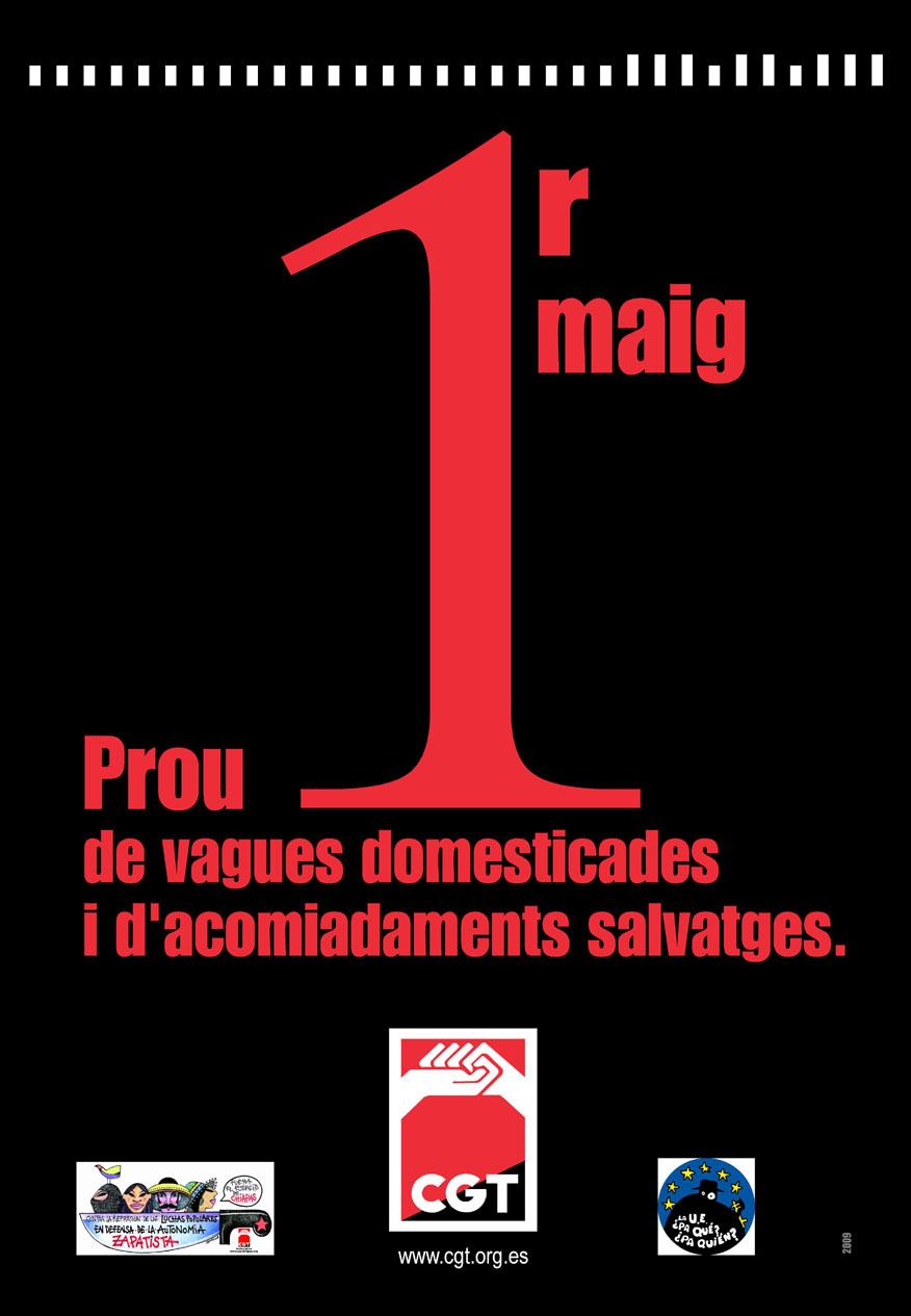 Cartell 1r Maig 2009 CGT