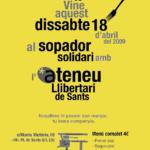 Cartell sopador solidari Ateneu de Sants