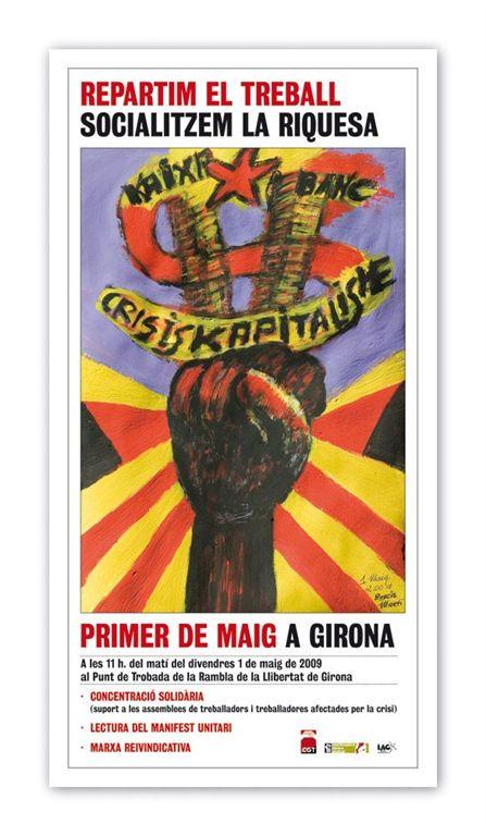 cartell 1r de Maig a Girona