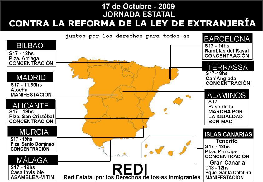 Mapa manifestacions
