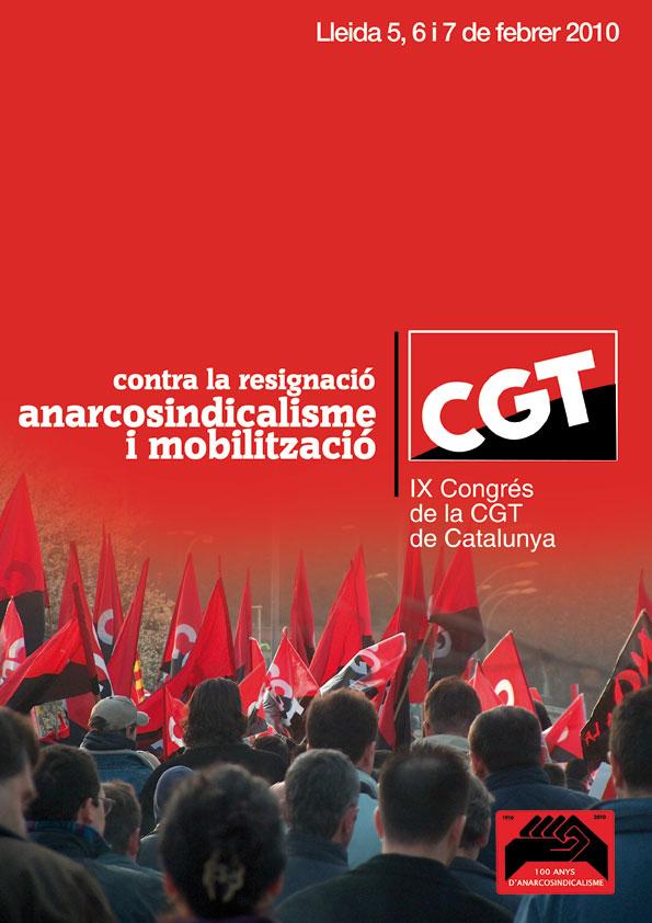 Cartell IX Congrés CGT Catalunya