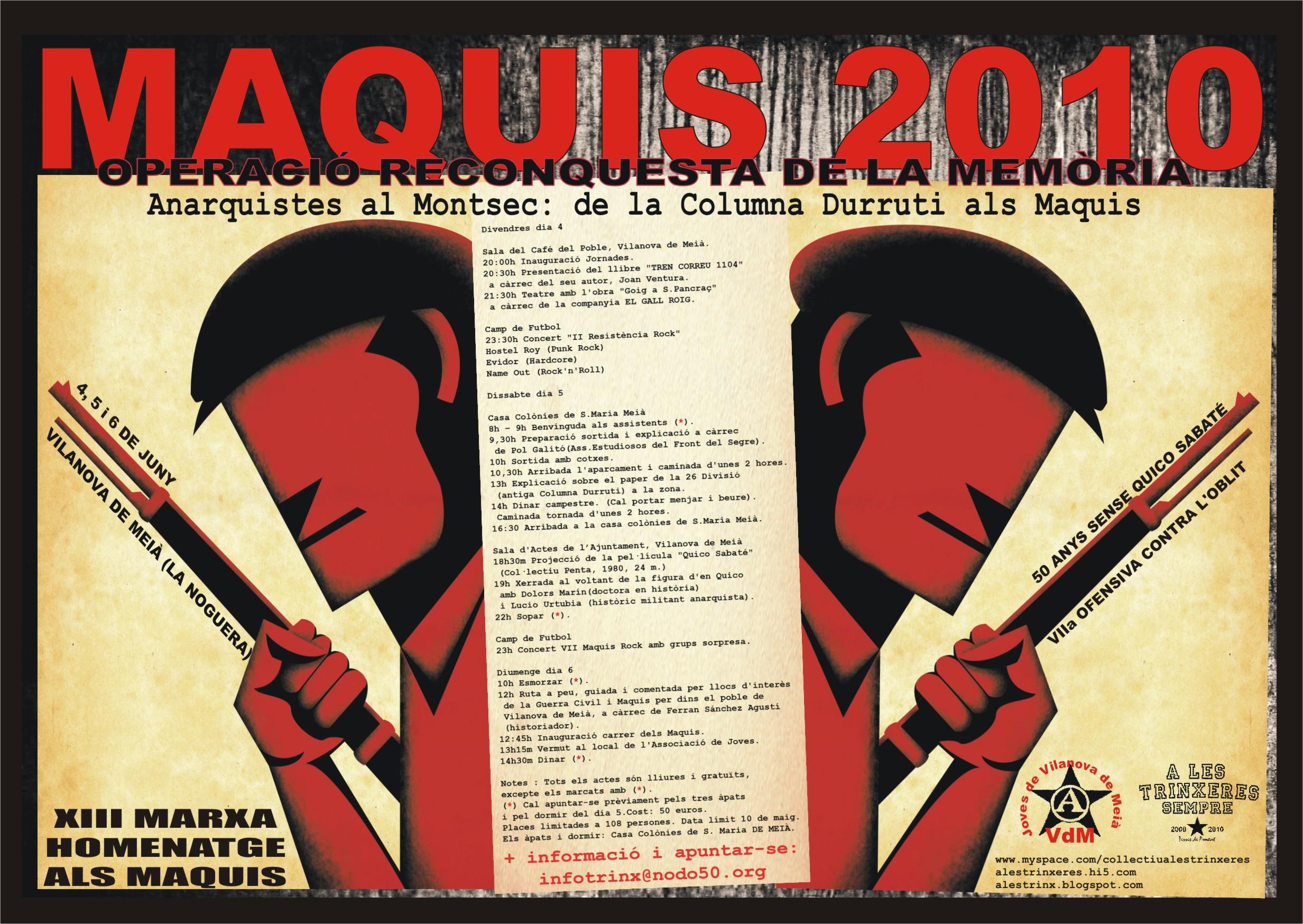 Cartell Maquis 2010