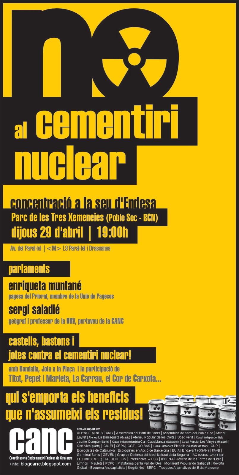 Cartell 29 d'abril Bcn