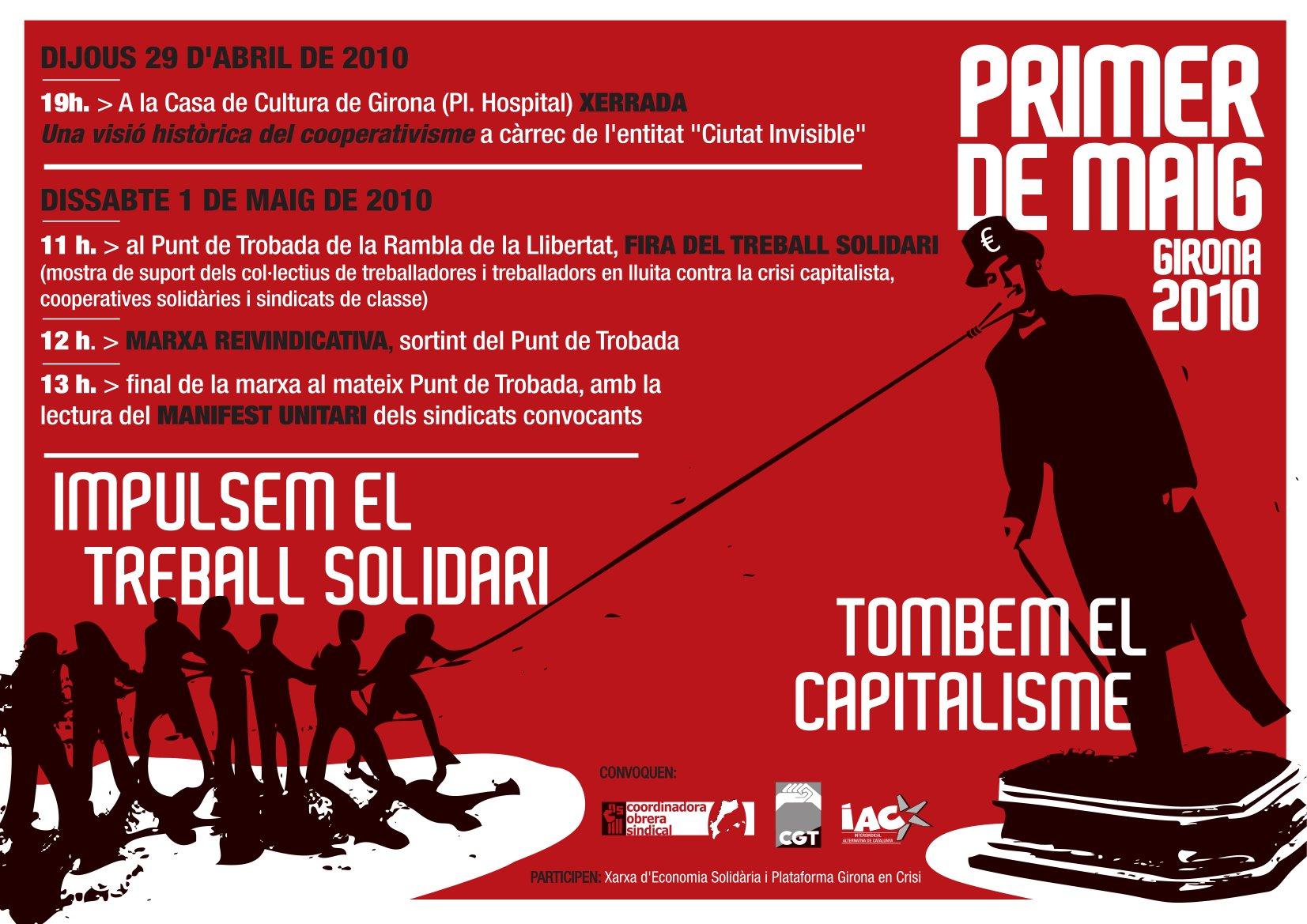 Cartell 1 de Maig a Girona