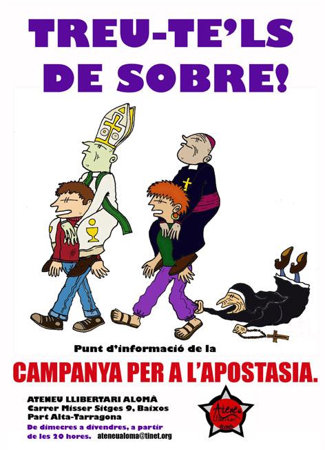 cartell apostasia Tarragona