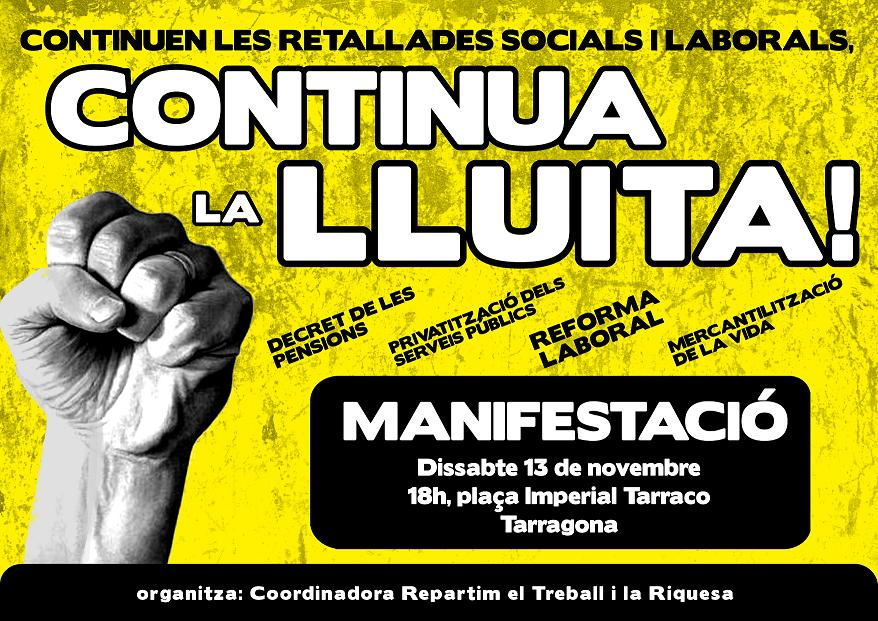 Cartell 13-N Tarragona