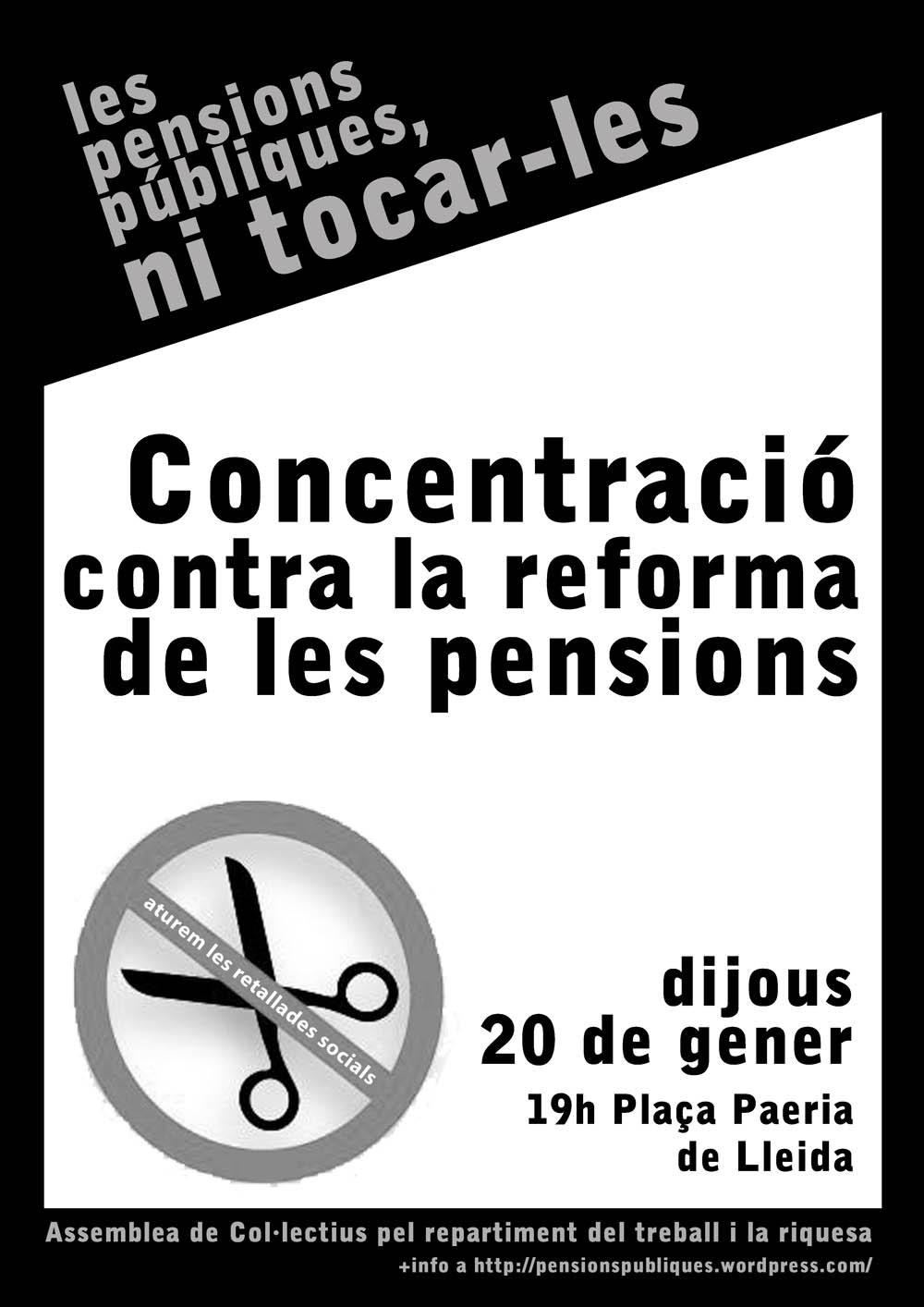 Cartell concentració Lleida