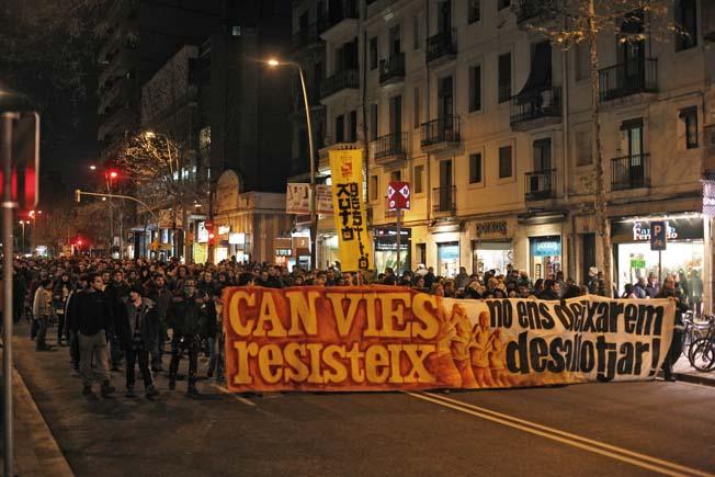 manifestació Can Vies 29-01-2011