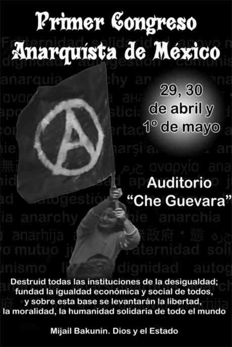 cartell congrés anarquista Mèxic