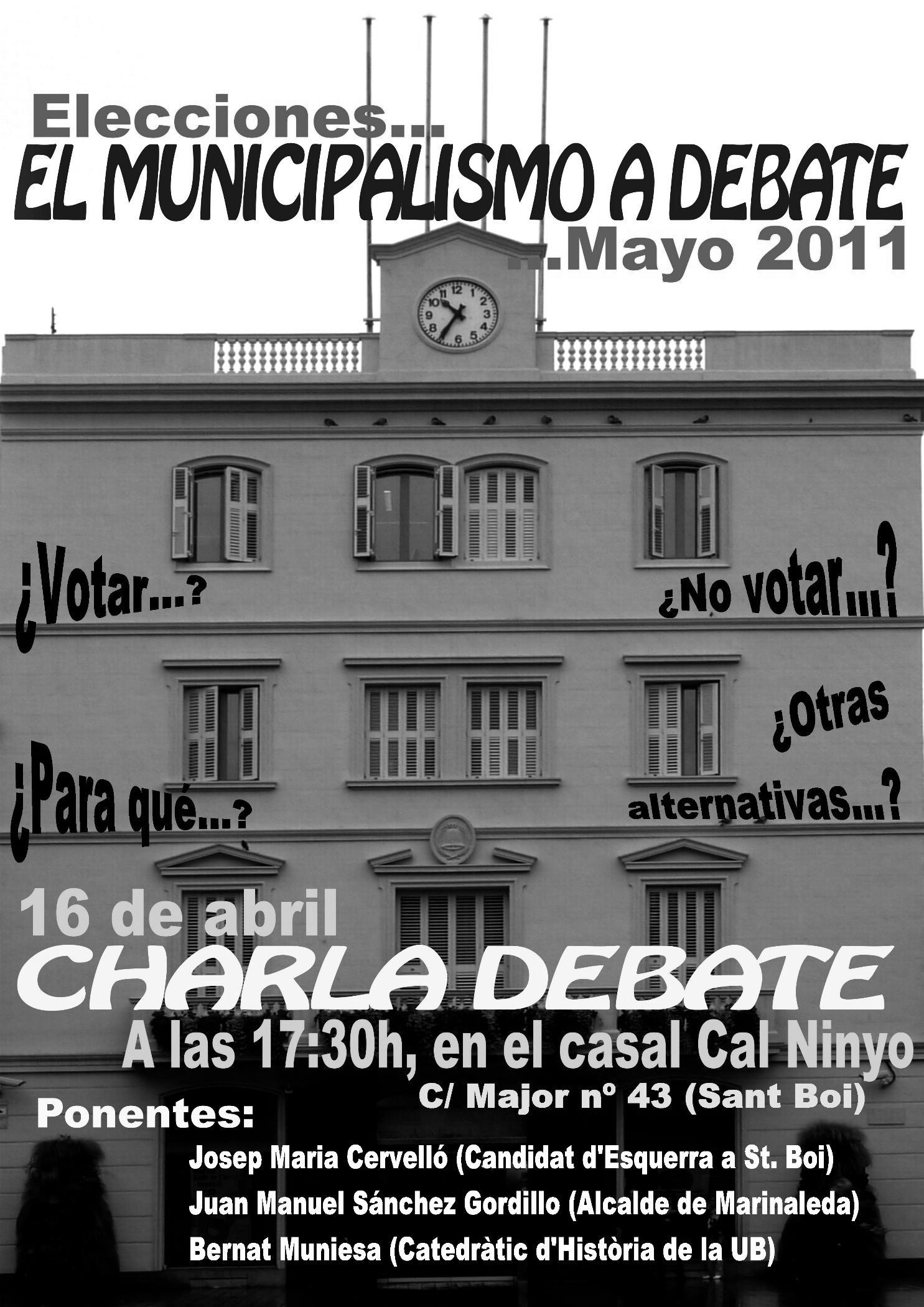 cartell debat Sant Boi