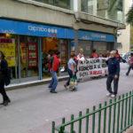 Concentració al Caprabo de l'avinguda de la marina a L'Hospitalet de Llobregat
