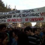 pancarta a la manifestació del 15-O