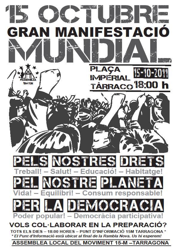 cartell Tarragona 15oct 1