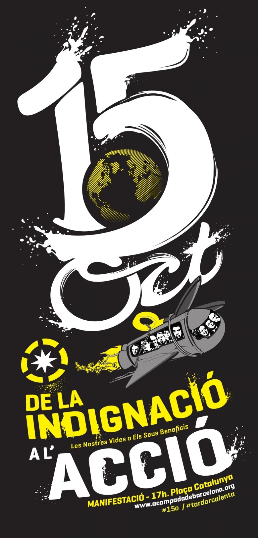 cartell 15-O Barcelona