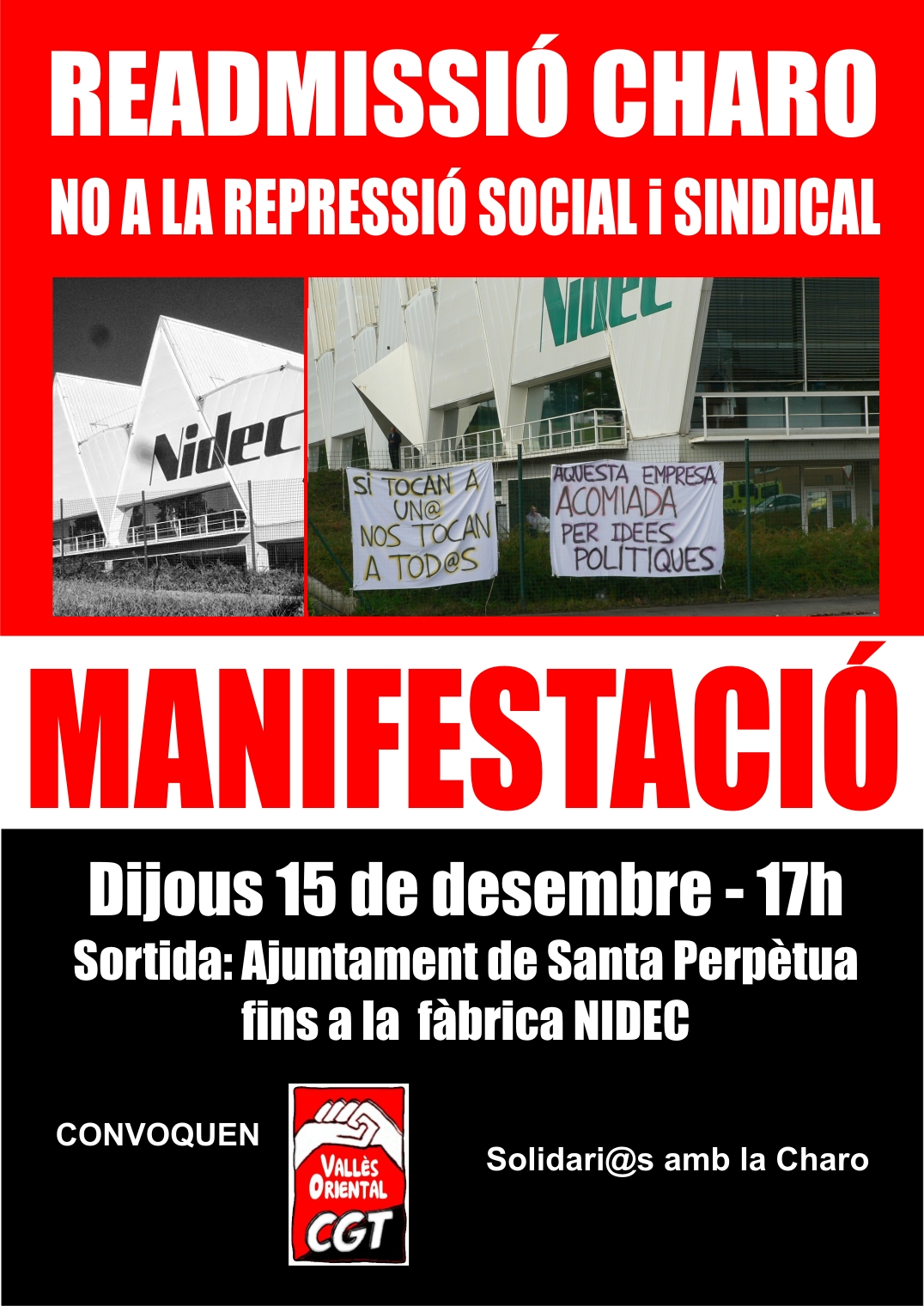 cartell manifestació nidec