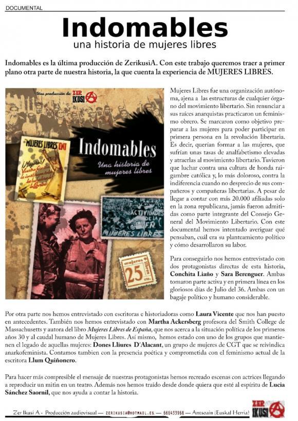 Full presentació Indomables