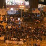 manifestació a Plaça Espanya
