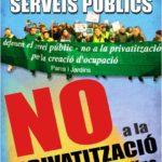 cartell no a la privatització