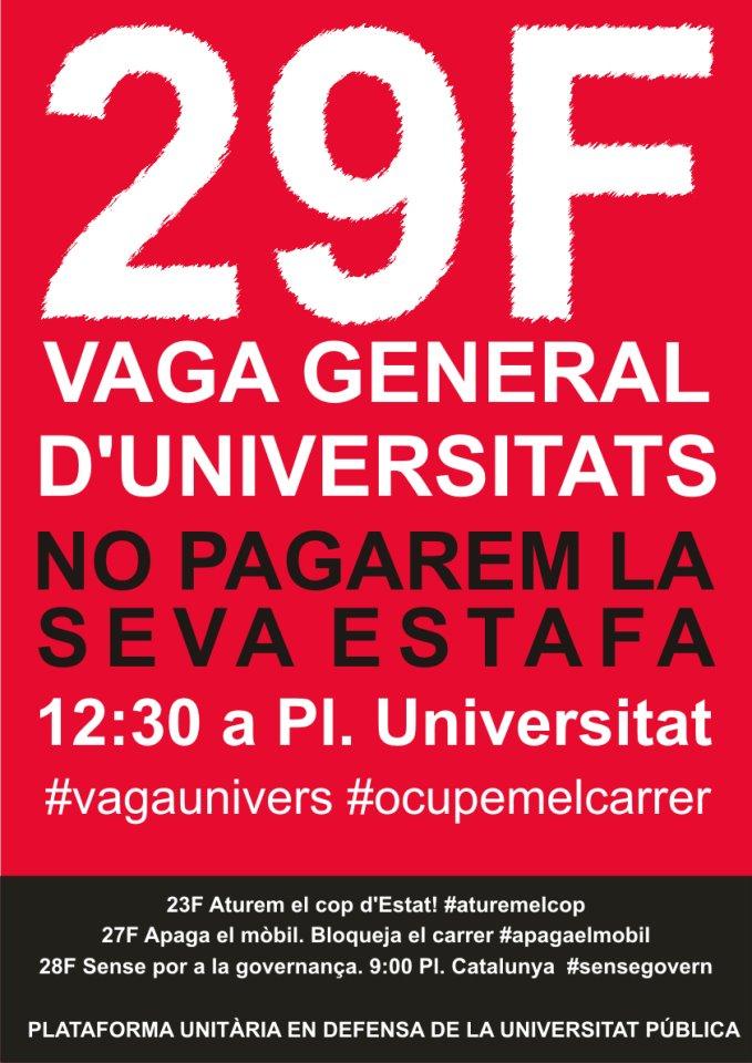 manifestació 29F