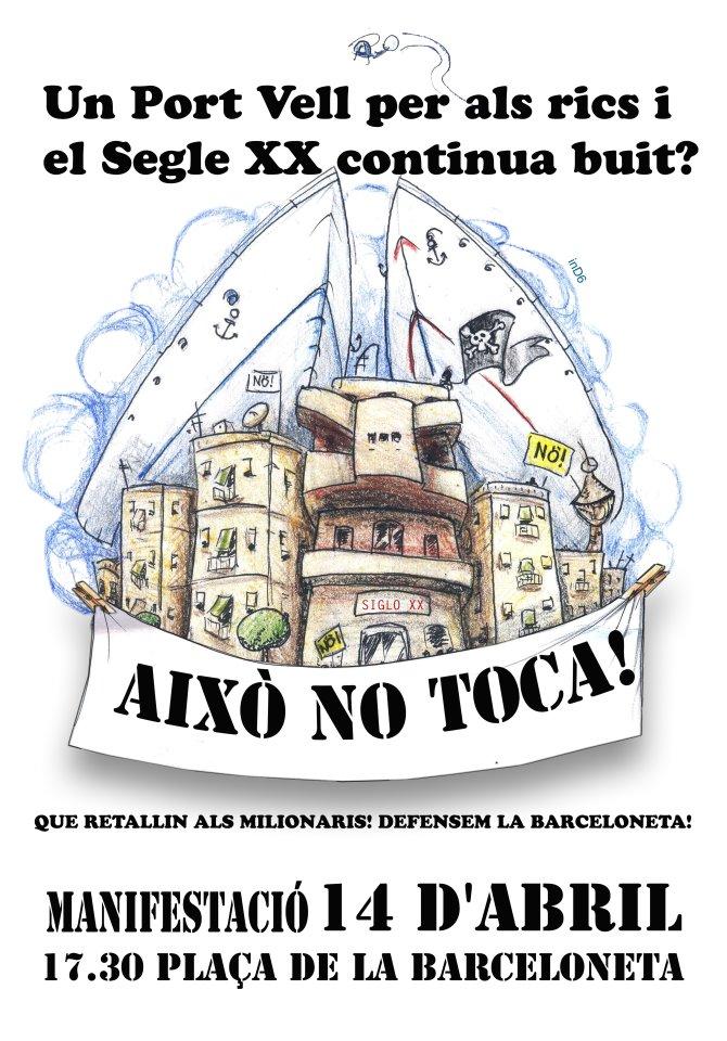 Cartell mani Barceloneta 14 d'abril