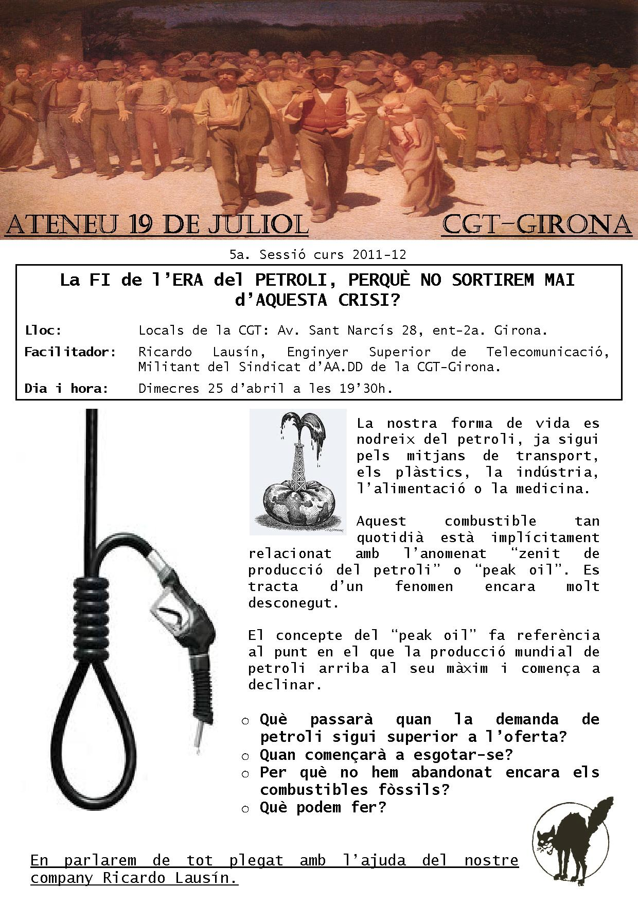 cartell 5a sessió Ateneu 19 Juliol