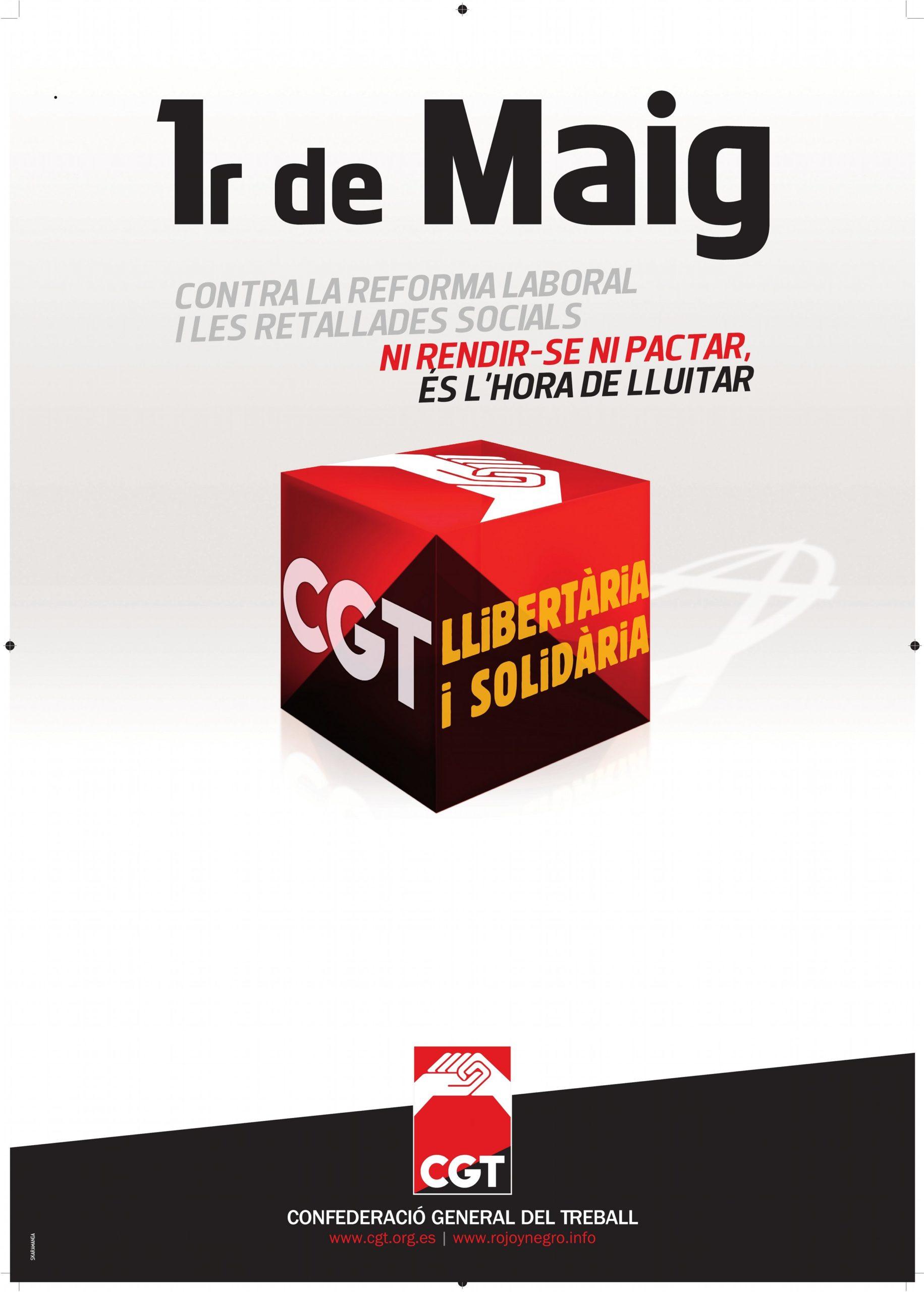 Cartell CGT 1r maig 2012