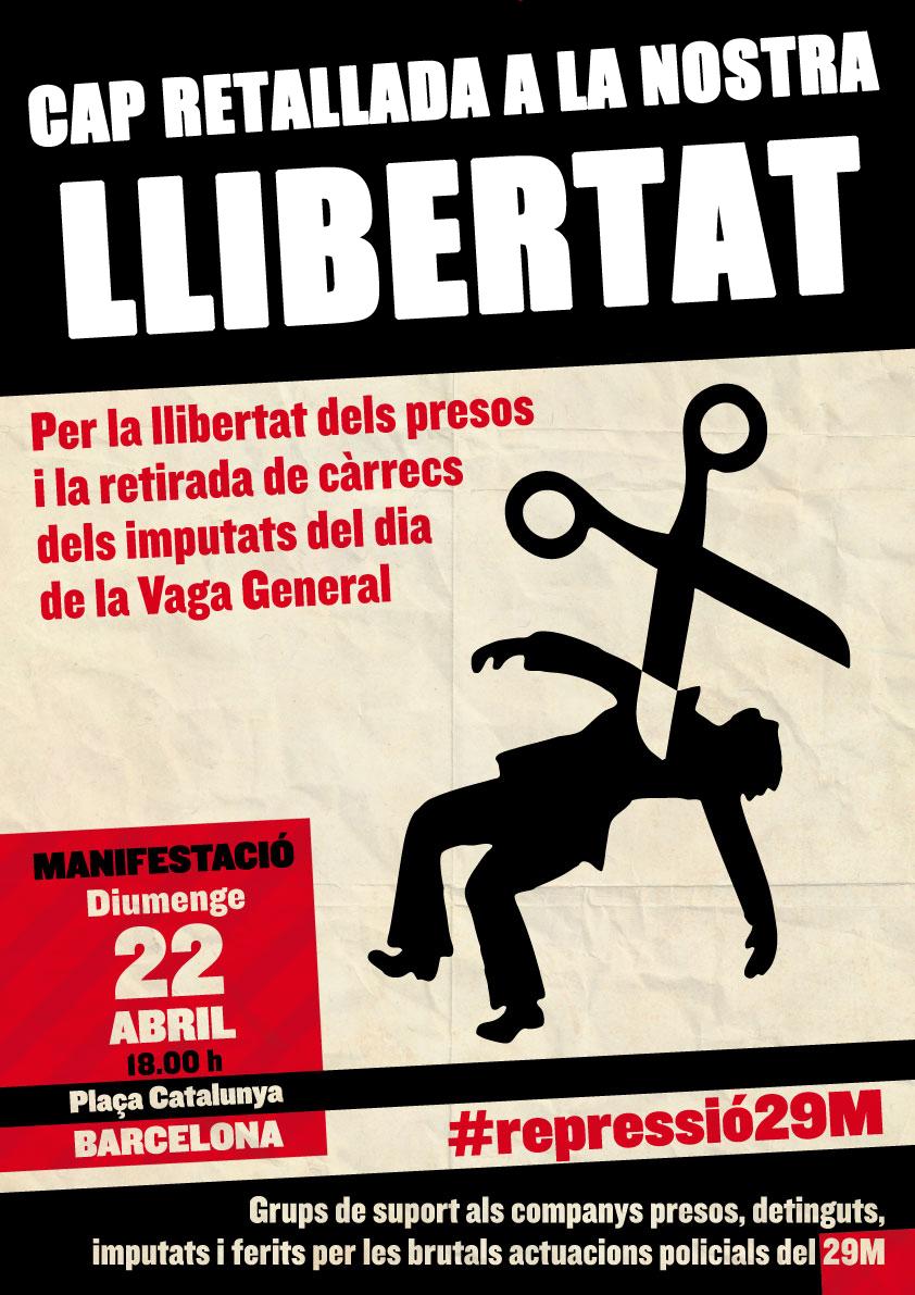 Cartell manifestació 22 d'abril