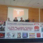 Taula del Congrés Extraordinari de CGT Catalunya