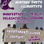 Cartell manifestació 28 setembre