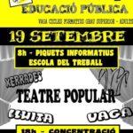 Cartell accions 19 setembre a Barcelona