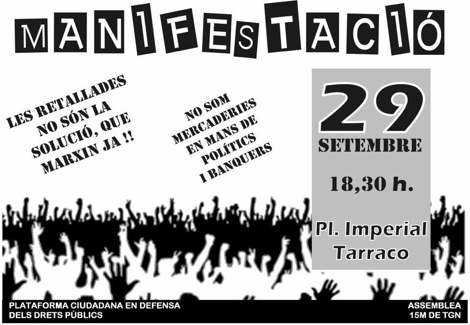Cartell 29S a Tarragona
