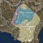 Zona on es construirà Barcelona World