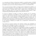 Nota premsa Comitè Metro