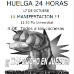 Cartell vaga i manifestació 17 setembre