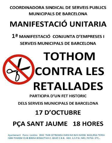 Cartell manifestació 17 d'octubre