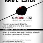 Cartell concentració Solidaritat Ester