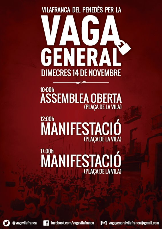 Cartell Vilafranca del Penedès 14N