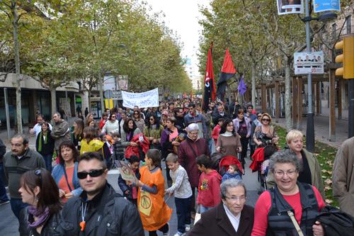 Manifestació 14N Vilafranca