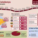 L'atur a Catalunya a finals de gener 2013