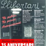 Cartell aniversari Ateneu Poble Sec